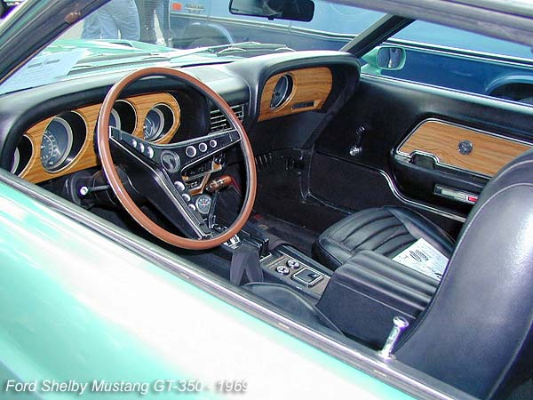 1969_ford_shelby_mustang_gt 350_fastback the interior remained in standard mustang - 1969 Ford Mustang Fastback Interior