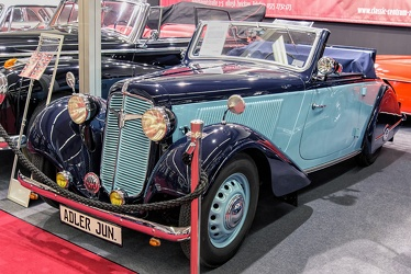 Adler Trumpf Junior Type 1E 2-seater cabriolet by Karmann 1938 fl3q