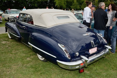 Cadillac 62 convertible coupe 1947 blue r3q