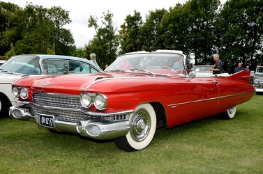 Cadillac 62 convertible coupe 1959 red fl3q