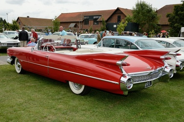 Cadillac 62 convertible coupe 1959 red r3q