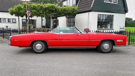 Cadillac Eldorado convertible coupe 1976 red side